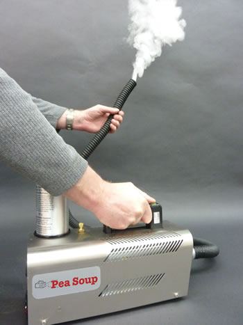 Stainless Rocket smoke machine with ducting hose